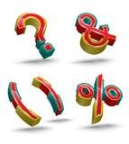 Wektorowego symbolu ustalony 3D styl Obrazy Stock