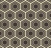 Wektorowego sześciokąta abstrakta wzoru Płaska Geometryczna ilustracja Obrazy Royalty Free