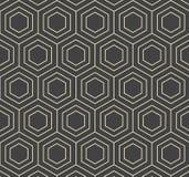 Wektorowego sześciokąta abstrakta wzoru Płaska Geometryczna ilustracja Zdjęcie Stock