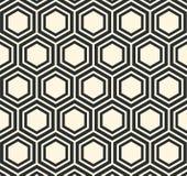 Wektorowego sześciokąta abstrakta wzoru Płaska Geometryczna ilustracja Obrazy Stock