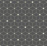 Wektorowego sześciokąta Płaska Abstrakcjonistyczna Geometryczna Deseniowa ilustracja Zdjęcia Royalty Free