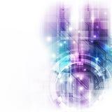 Wektorowego tła technologii pojęcia abstrakcjonistyczna ilustracja Obraz Stock