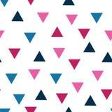 Wektorowego trójboka bezszwowy pttern tło 8 Bezszwowych Geometrycznych trójboków wzorów - tekstura dla tapety, tło ilustracja wektor