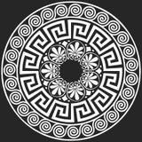 Wektorowego Tradycyjnego rocznika Grecki ornament (meander) royalty ilustracja