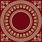 Wektorowego Tradycyjnego rocznika złocisty Grecki ornament Obrazy Stock