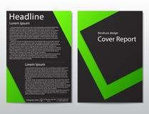 Wektorowego ulotki broszurki projekta szablonu geometryczny abstrakt Fotografia Stock