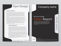 Wektorowego ulotki broszurki projekta szablonu geometryczny abstrakt A4 rozmiar Obrazy Royalty Free