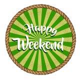 Wektorowego wizerunku szczęśliwy weekend obraz stock