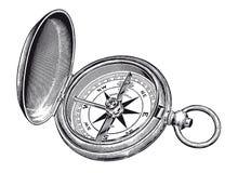 Wektorowego Wysokiego szczegółu rocznika kompasu Różany rytownictwo ilustracji