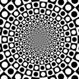 Wektorowego zoomu okręgu czarny i biały okulistyczny tło Obrazy Stock