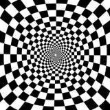 Wektorowego zoomu okręgu czarny i biały okulistyczny tło Obrazy Royalty Free