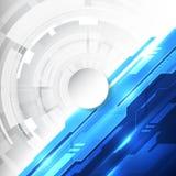 Wektorowej Abstrakcjonistycznej futurystycznej wysokiej technologii cyfrowej koloru błękitny tło, ilustracyjna sieć Obrazy Stock