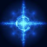 Wektorowej abstrakcjonistycznej inżynierii przyszłościowa technologia, elektryczny telekomunikacyjny tło Fotografia Stock