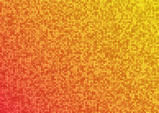 Wektorowej abstrakcjonistycznej jaskrawej mozaiki pomarańczowej czerwieni gradientowy tło Fotografia Stock