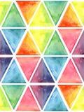 Wektorowej akwareli Geometryczny Bezszwowy wzór z sześciokątami Zdjęcia Stock