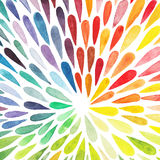 Wektorowej akwareli kolorowy abstrakcjonistyczny tło Kolekcja pa ilustracja wektor
