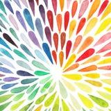 Wektorowej akwareli kolorowy abstrakcjonistyczny tło Kolekcja pa Obrazy Royalty Free