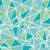 Wektorowej Błękitnej zieleni mozaiki trójboków Geometrycznej powtórki Bezszwowy Deseniowy tło Może Używać Dla tkaniny, tapeta Obrazy Stock