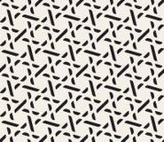 Wektorowej Bezszwowej Czarny I Biały kratownicy Geometryczny wzór royalty ilustracja
