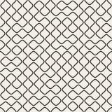 Wektorowej Bezszwowej Czarny I Biały Round linii siatki Geometryczny wzór Obrazy Stock