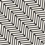 Wektorowej Bezszwowej Czarny I Biały szewron linii Geometryczny wzór Zdjęcia Stock