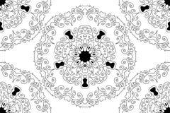 Wektorowej Bezszwowej Round gwiazdy koronki Ornamentacyjny wzór Fotografia Royalty Free