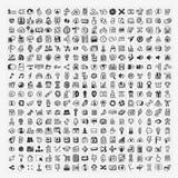 324 Wektorowej Doodle sieci ikony Obraz Stock