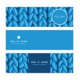 Wektorowej dzianiny sewater tkaniny horyzontalna tekstura Obraz Royalty Free