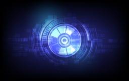 Wektorowej gałki ocznej przyszłościowa technologia, ochrony pojęcia tło ilustracja wektor