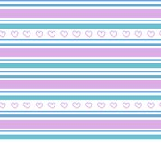 Wektorowej geometrii bezszwowy wzór z sercami Obrazy Stock
