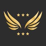 Wektorowej grafiki złoci skrzydła Zdjęcie Royalty Free
