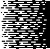 Wektorowej Halftone przemiany tapety Abstrakcjonistyczny wzór Bezszwowy Czarny I Biały Nieregularny Zaokrąglony linii tło dla Zdjęcia Stock