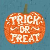 Wektorowej Halloween wycena typographical tło robić w ręka rysującym stylu ilustracja wektor