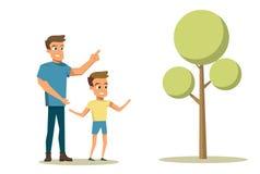 Wektorowej Ilustracyjnej kreskówki Szczęśliwy Rodzinny pojęcie ilustracja wektor