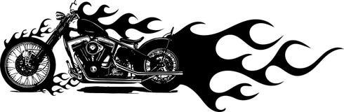 Wektorowej ilustracyjnej Płomiennej roweru siekacza przejażdżki Frontowy widok ilustracji