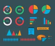 Wektorowej informaci graficznego projekta elementy Fotografia Stock
