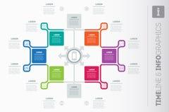 Wektorowej informaci grafiki raport z ikonami Szablon dla infographics Obraz Royalty Free