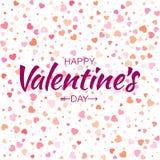 Wektorowej Kolorowej Szczęśliwej walentynka dnia karty serc bezszwowy deseniowy tło Zdjęcie Stock