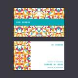 Wektorowej kolorowej trójbok tekstury horyzontalny lampas Obrazy Stock
