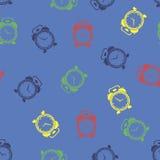 Wektorowej Kolorowej Zegarowej ikony Bezszwowy wzór Obrazy Stock