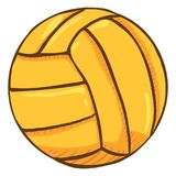 Wektorowej kreskówki Żółta piłka dla Wodnego polo ilustracja wektor