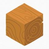 Wektorowej kreskówki płaski isometric gemowy ceglany sześcian Zdjęcia Stock