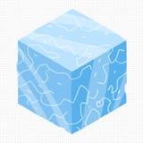 Wektorowej kreskówki płaski isometric gemowy ceglany sześcian Zdjęcia Royalty Free
