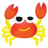 Wektorowej kreskówki pomarańczowy krab śmieszny ilustracja wektor