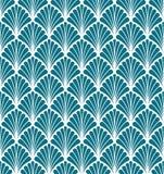 Wektorowej Kwiecistej sztuki Nouveau Bezszwowy wzór Geometryczna dekoracyjna liść tekstura Retro elegancki tło ilustracja wektor