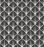 Wektorowej Kwiecistej sztuki Nouveau Bezszwowy wzór Geometryczna dekoracyjna liść tekstura Retro elegancki tło ilustracji