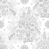 Wektorowej ślicznej bajki grodzki doodle Zdjęcia Royalty Free
