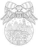 Wektorowej ślicznej bajki grodzki doodle Obrazy Stock