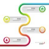 Wektorowej linii czasu infographic szablon Zdjęcie Stock