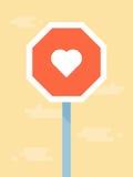 Wektorowej miłości drogowy znak Obrazy Royalty Free